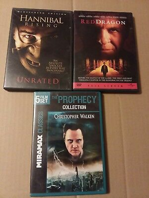 Dvd Horror 7 Movie Lot,2 Hannibal movies and the prophecy collection (5 movies)