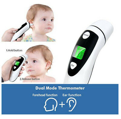 Professional LCD IR Infrared Digital Thermometer Forehead and ear Baby Kid Adult