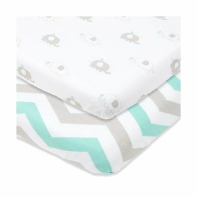 Cuddly Cubs Bassinet Sheets Set 2 Pack For Boys & Girls by Soft & Breathable
