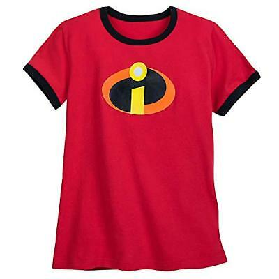 Girls Size Xxs 2/3 Disney Store Incredibles Logo Ringer Tee Shirt Nwt