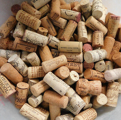LOT OF 356 NATURAL WINE BOTTLE CORKS USED~FOR ARTS & CRAFT PROJECTS~Fingerlakes+