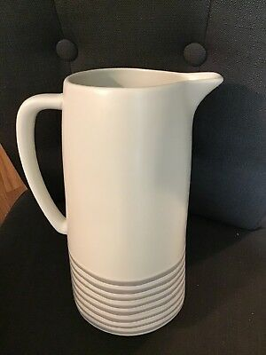 ~NEW~ Hearth & Hand with Magnolia Tall Pitcher Cream Gray Stripes ~NWT~