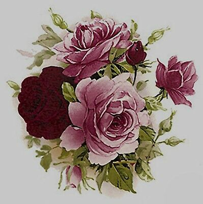 Pink Rose Round Bouquet Flowers Select-A-Size Waterslide Ceramic Decals Bx