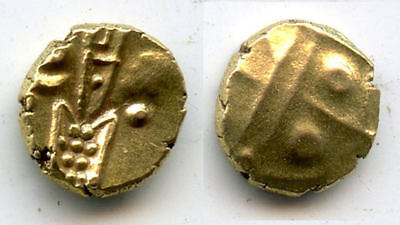Rare authentic gold fanam, Dutch VOC company in Tuticorin, 1658-1795, India
