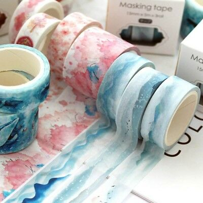 3 Rolls Washi Masking Tape Set Petal Animal Paper DIY Scrapbooking Stickers