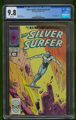 Silver Surfer Limited Series #2 (1989) CGC Graded 9.8  Galactus ~ Stan Lee Story