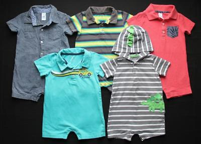 Baby Boy 18 Months Carter's Summer Rompers Clothes Outfits Lot Free Shipping!!