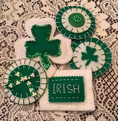 Primitive St Patrick's Day Ornies, Bowl Fillers
