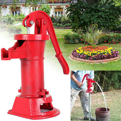 Hand Water Pump Well Pitcher Cast Iron Press Suction Outdoor Yard Pond 25FT