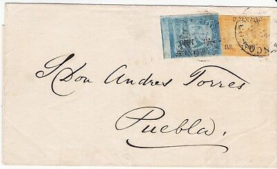 Mexico 21 and 23 Period 5 Consignment 93-1866 Cover with 3R Rate