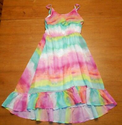 Children's Place Girls Bright Multi-colored Dress Size L/G 10-12 Nice condition!