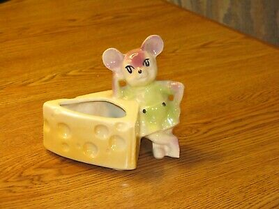 Vintage ~ Mid Century ~ Shawnee Art Pottery Mouse with Cheese Planter