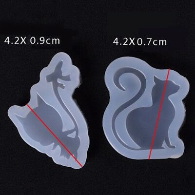 Silicone Mold Cat Shape Epoxy Resin Mould DIY Jewelry Making Crafts Decoration
