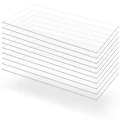 vidaXL 2/4/5/8/10x Acrylic Glass Sheets Board Multi Sizes 2/3/4/5/6/10/15mm