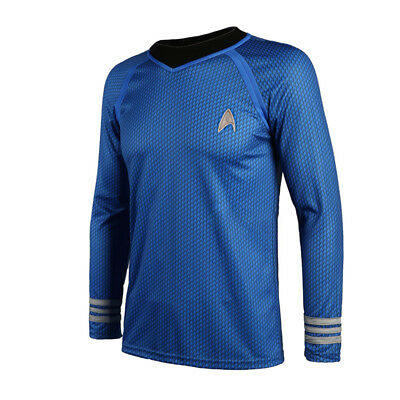 Star Trek Spock Uniform Captain Costume Shirt Costume Stage Party Office Into