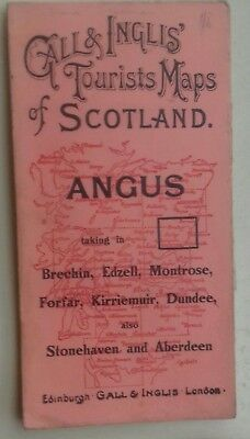 Gall & Inglis Tourist's Map Of Scotland, Angus C 1930's  Inc' Dundee & Aberdeen