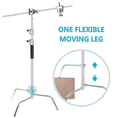 Neewer Support Eclairage C-Stand avec Bras Girafe, Rotule et Jambe Réglable