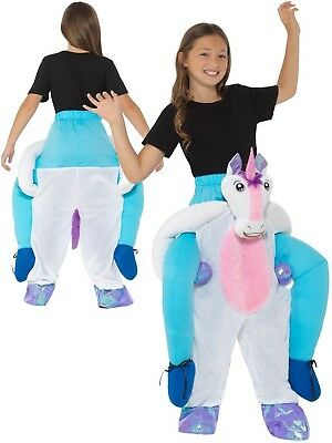 Girls Step In Ride On Light /& Sound Unicorn Carnival Fancy Dress Costume Outfit
