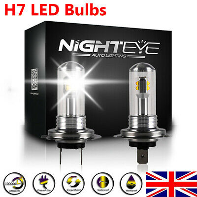 NIGHTEYE H7 160W LED Fog Light Bulbs Car Driving Lamp DRL 6000K White Light UK