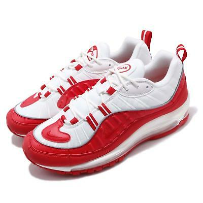 Nike Air Max 98 University Red White Mens Running Shoes NSW Sneakers 640744 -602 4dc1b3c0d