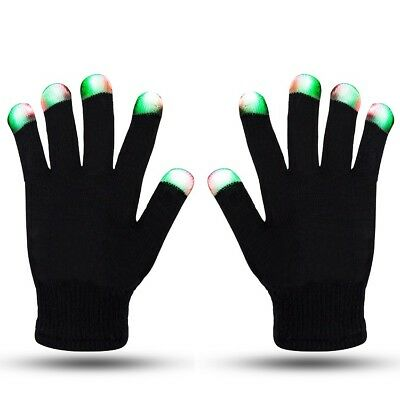 LED Gloves - guanti luminosi con luci a led - 6 effetti diversi!