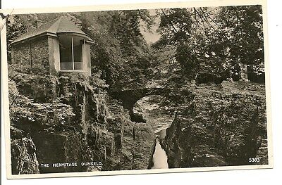 DUNKELD-THE HERMITAGE--Old Postcard--PERTH & KINROSS-Scotland.
