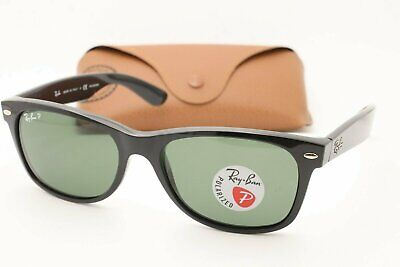 0ff4b18132f Ray Ban RB 2132 Wayfarer Sunglasses 901 58 Black   Green Polarized 55 NEW!