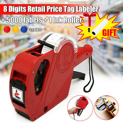 MX-5500 EOS 8 Digits Retail Price Tag Gun Labeler + 5000 labels + 1 Ink Roller