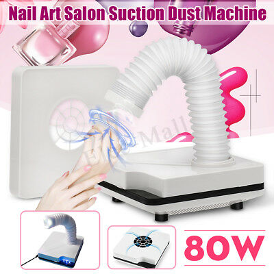 80W Salon Suction Dust Collector Vacuum Cleaner Nail Art Manicure Machine 360°