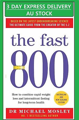 The Fast 800 by Michael Mosley Paperback Book Free 3 DAY EXPRESS DELIVERY