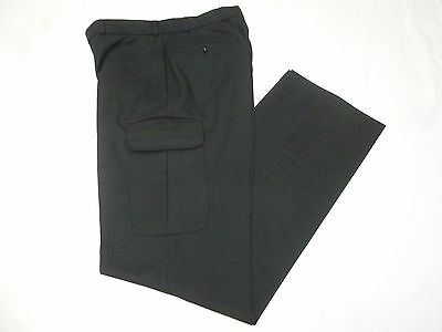 EX Police Black Prison Officer Security Uniform Trousers Cargo Leg Pocket B4 TR1