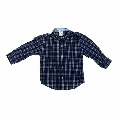 Janie and Jack Baby Boys Shirt, size 18 mo,  blue/navy,  cotton