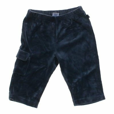 Old Navy Baby Boys Velour Pants, size 6 mo,  blue/navy,  cotton, polyester