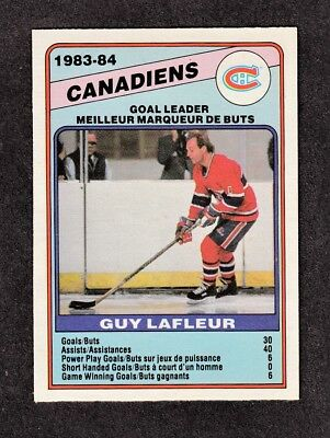 1984-85 GUY LAFLEUR #360 * O-Pee-Chee Hall of Fame * GOAL Leader NHL Hockey Card