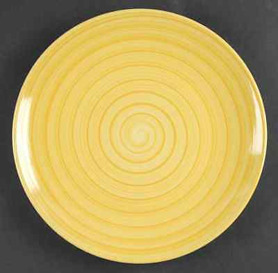 Tabletops Unlimited SWIRL YELLOW Dinner Plate S6450095G2