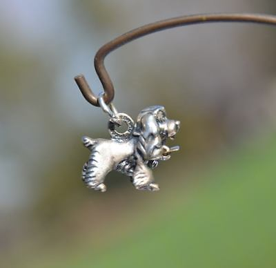Vintage Disney Cocker Spaniel Lady and the Tramp Movie Charm Sterling Silver dog