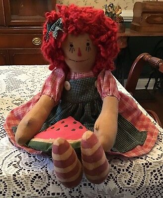 Primitive Raggedy Doll, Watermelon