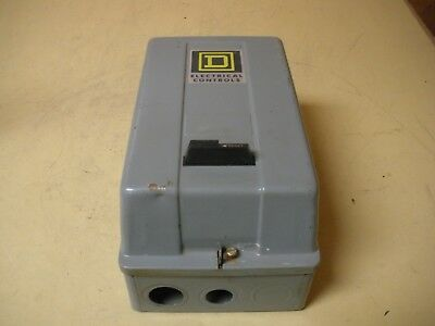 Square D Class 8536 Type SCO3S Starter Size 1 With Enclosure, 120V Coil