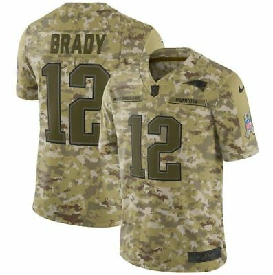 online retailer 8862a f7c9a TOM BRADY#12 NEW England Patriots Men's Camo Salute to Service STITCHED  Jersey🔥