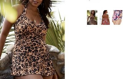 d4a3394a202 plus Swimsuits for all sexy retro halter ruffle swimsuit swimdress 30  animal k