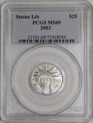 2003 $25 Statue of Liberty - Platinum Eagle #934278-4 MS69 PCGS