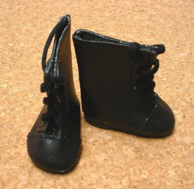 "Doll Shoes My Twinn 20/"" 85mm BLACK Lace up Boots for Chatty Cathy"