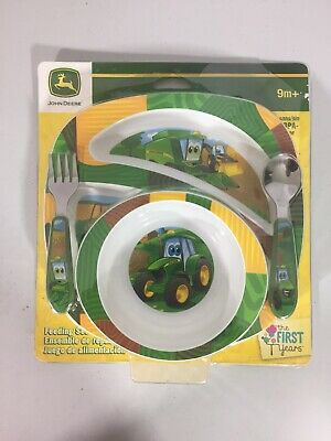 John Deere's Johnny Tractor and Friends Feeding Green, Brown, Yellow