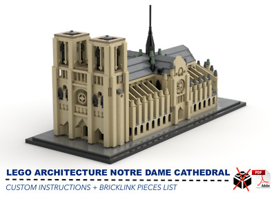 LEGO ARCHITECTURE NOTRE DAME CATHEDRAL CUSTOM INSTRUCTIONS ONLY for LEGO Bricks