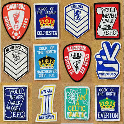 Retro Cloth Sew On Football Soccer Patch 1970s Unused Patches - Various Teams
