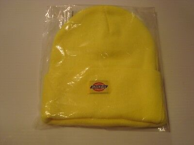 afd80de3688c5 Dickies Core 14 Inch Beanie Cuff Knit Cap Hat Men Safety Yellow Size Most  NWT