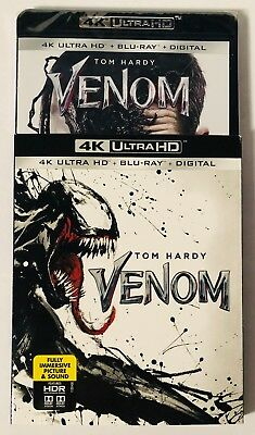 Venom (4K Ultra HD+Blu-ray+Digital) BRAND NEW FACTORY SEALED