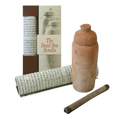The Dead Sea Scrolls Jar Replica Pottery & Booklet The Israel Museum Jerusalem