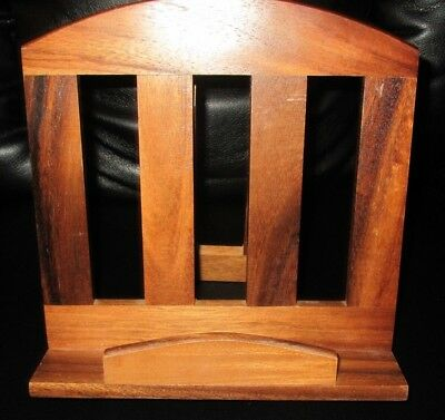 Solid Lightweight Wood Folding Recipe Music Stand Book Rack Support Easel    #7