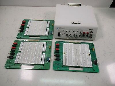 National Instruments NI ELVIS Deck w/ 3 Prototyping Boards 188429A-01